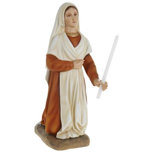 Statue of St. Bernadette in fibreglass 63 cm for EXTERNAL USE 1