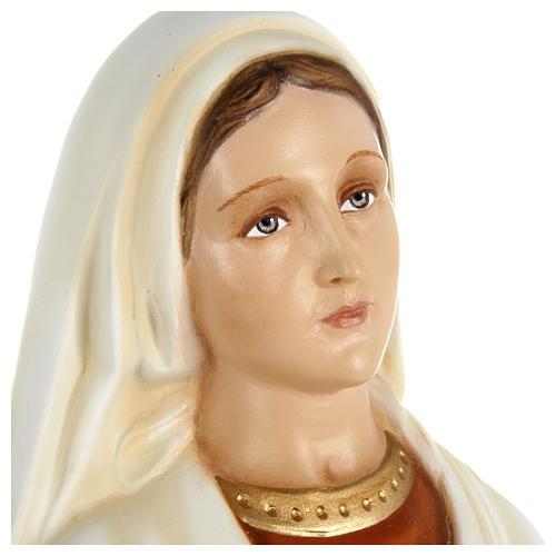 Statue of St. Bernadette in fibreglass 63 cm for EXTERNAL USE 2
