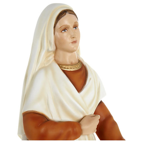 Statue of St. Bernadette in fibreglass 63 cm for EXTERNAL USE 3