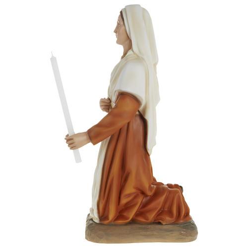 Statue of St. Bernadette in fibreglass 63 cm for EXTERNAL USE 5