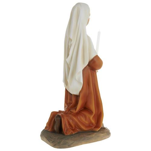 Statue of St. Bernadette in fibreglass 63 cm for EXTERNAL USE 7