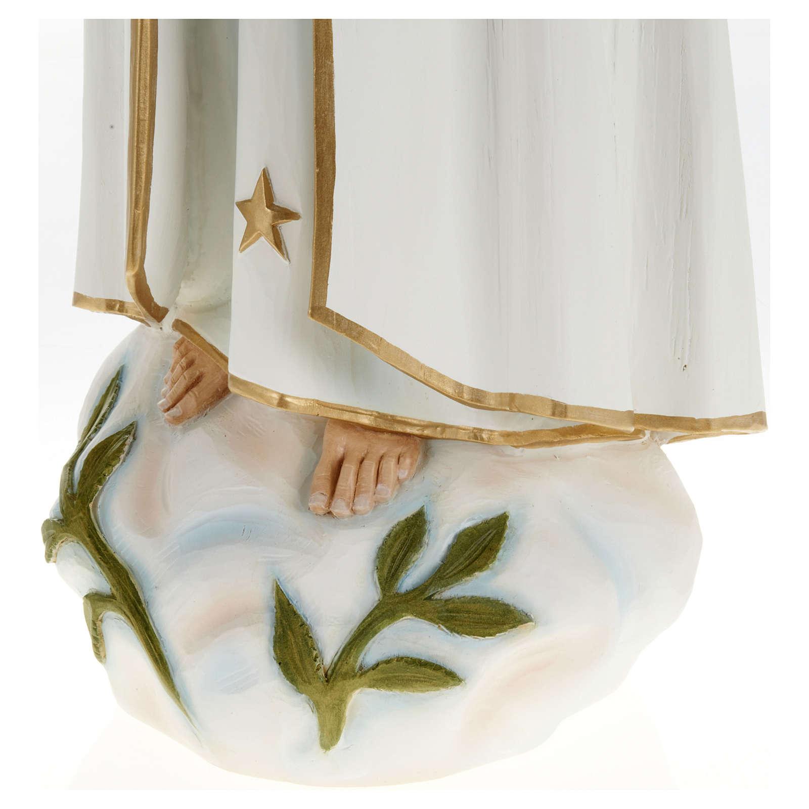 Nossa Senhora de Fátima 60 cm fibra de vidro PARA EXTERIOR 4