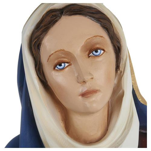 Statua Addolorata mani giunte 80 cm fiberglass PER ESTERNO