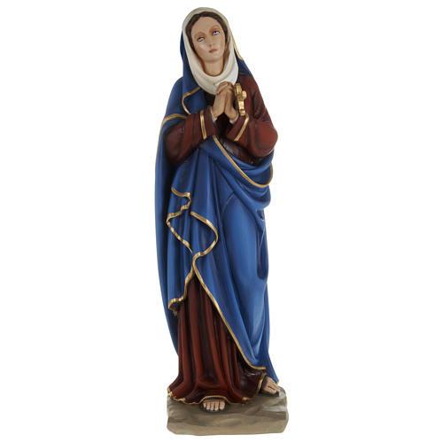 Imagem Nossa Senhora das Dores mãos juntas 80 cm fibra de vidro PARA EXTERIOR