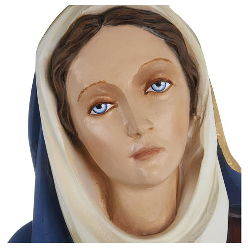 Our Lady of Sorrows Fiberglass Statue with Clasped Hands 80 cm FOR OUTDOORS