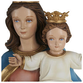 Statue of Our Lady of Help holding Baby Jesus in fibreglass 80 cm for EXTERNAL USE s2