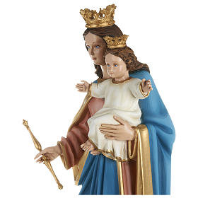 Statue of Our Lady of Help holding Baby Jesus in fibreglass 80 cm for EXTERNAL USE s4