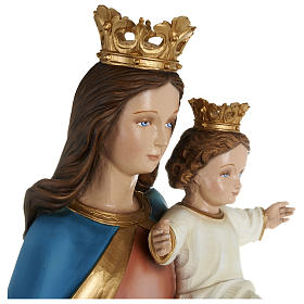 Statue of Our Lady of Help holding Baby Jesus in fibreglass 80 cm for EXTERNAL USE s7