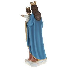 Statue of Our Lady of Help holding Baby Jesus in fibreglass 80 cm for EXTERNAL USE s11