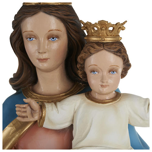 Statue of Our Lady of Help holding Baby Jesus in fibreglass 80 cm for EXTERNAL USE 2