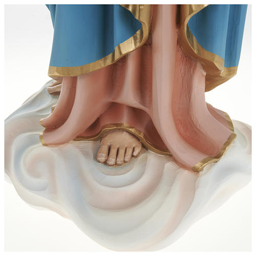 Statue of Our Lady of Help holding Baby Jesus in fibreglass 80 cm for EXTERNAL USE 10