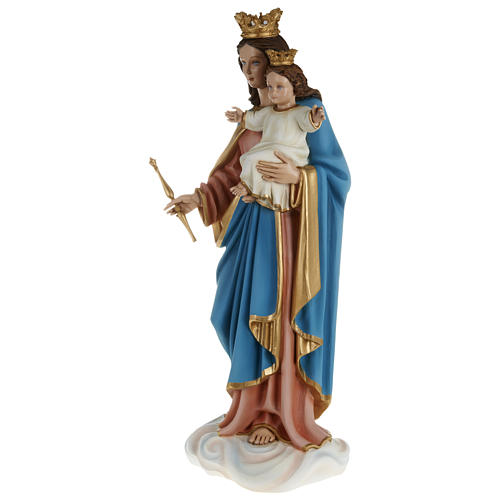 Estatua María Auxiliadora con niño 80 cm fiberglass PARA EXTERIOR 6
