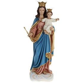 Statua Maria Ausiliatrice con bambino 80 cm fiberglass PER ESTERNO s1