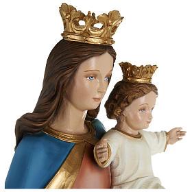 Statua Maria Ausiliatrice con bambino 80 cm fiberglass PER ESTERNO s7