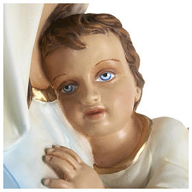 Statue of the Virgin Mary holding Baby Jesus in fibreglass 80 cm for EXTERNAL USE s5