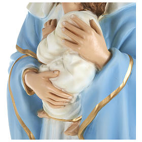Statue of the Virgin Mary holding Baby Jesus in fibreglass 80 cm for EXTERNAL USE s6