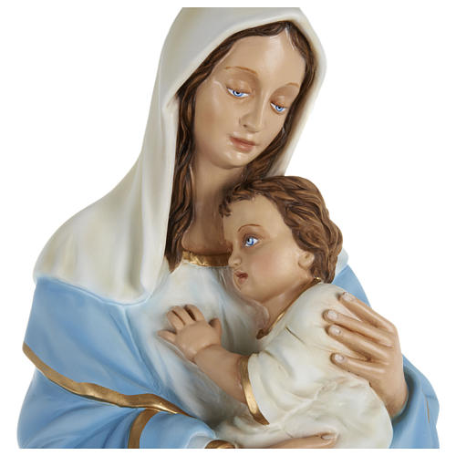 Statue of the Virgin Mary holding Baby Jesus in fibreglass 80 cm for EXTERNAL USE 2