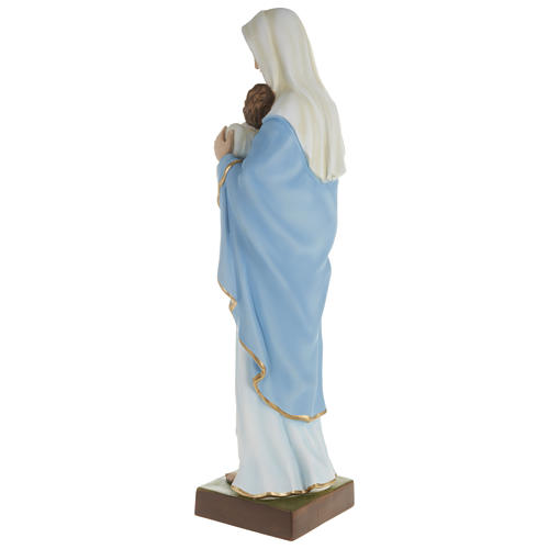 Statue of the Virgin Mary holding Baby Jesus in fibreglass 80 cm for EXTERNAL USE 7