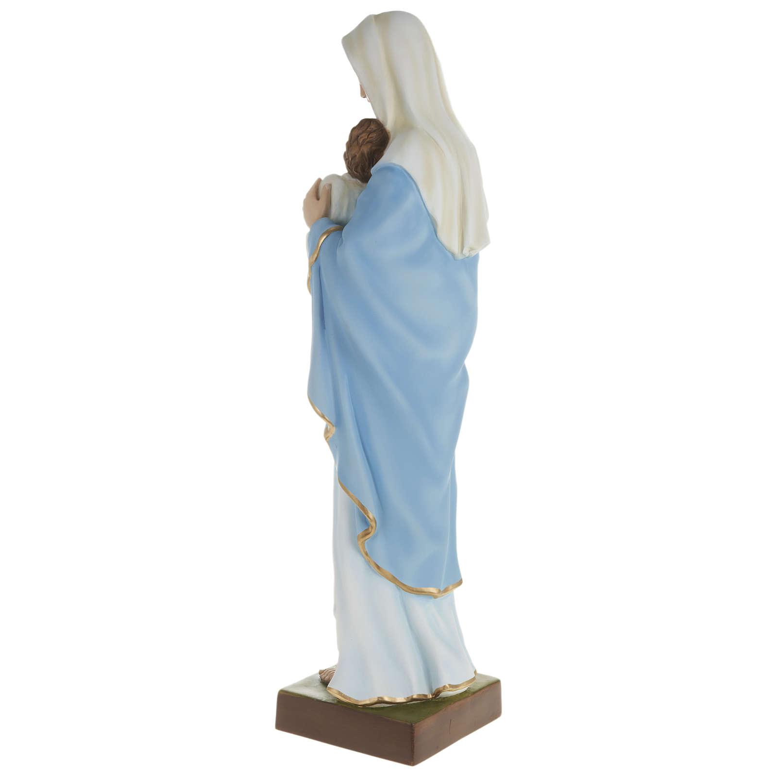 Statue Vierge avec Enfant-Jésus serré dans les bras 80 cm fibre de verre POUR EXTÉRIEUR 4