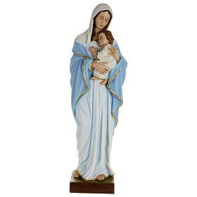 Statue Vierge avec Enfant-Jésus serré dans les bras 80 cm fibre de verre POUR EXTÉRIEUR s1