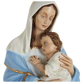 Statue Vierge avec Enfant-Jésus serré dans les bras 80 cm fibre de verre POUR EXTÉRIEUR s2