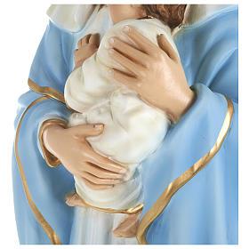 Statue Vierge avec Enfant-Jésus serré dans les bras 80 cm fibre de verre POUR EXTÉRIEUR s6