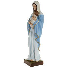 Statua Madonna con bimbo al petto 80 cm PER ESTERNO s3