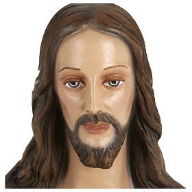 Statua Sacro cuore di Gesù vetroresina 80 cm PER ESTERNO