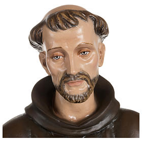 Statue of St. Francis with doves in fibreglass 100 cm for EXTERNAL USE s2