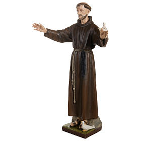 Statue of St. Francis with doves in fibreglass 100 cm for EXTERNAL USE s5