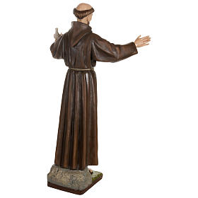 Statue of St. Francis with doves in fibreglass 100 cm for EXTERNAL USE s11