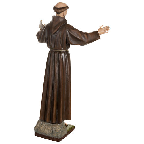 Statue of St. Francis with doves in fibreglass 100 cm for EXTERNAL USE 11