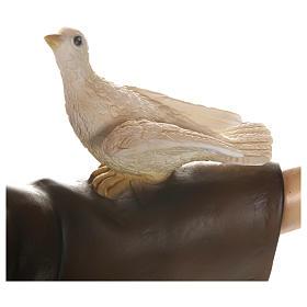 Estatua San Francisco con palomas fiberglass 100 cm PARA EXTERIOR s10