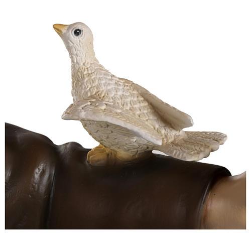 Estatua San Francisco con palomas fiberglass 100 cm PARA EXTERIOR 3