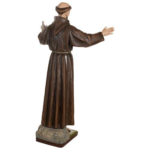 Estatua San Francisco con palomas fiberglass 100 cm PARA EXTERIOR 11