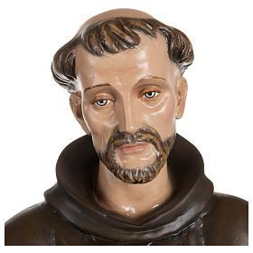 Statua San Francesco con colombe fiberglass 100 cm PER ESTERNO