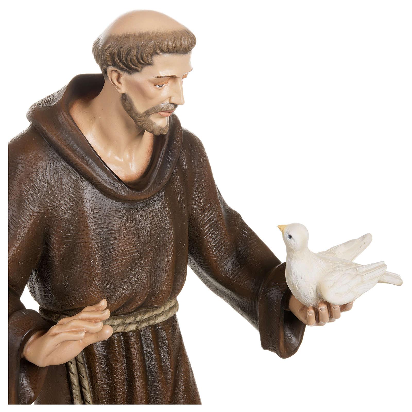 Estatua San Francisco con palomas fibra de vidrio 80 cm PARA EXTERIOR 4