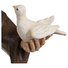 Estatua San Francisco con palomas fibra de vidrio 80 cm PARA EXTERIOR s4