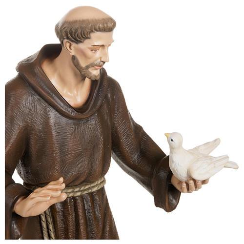 Estatua San Francisco con palomas fibra de vidrio 80 cm PARA EXTERIOR 7