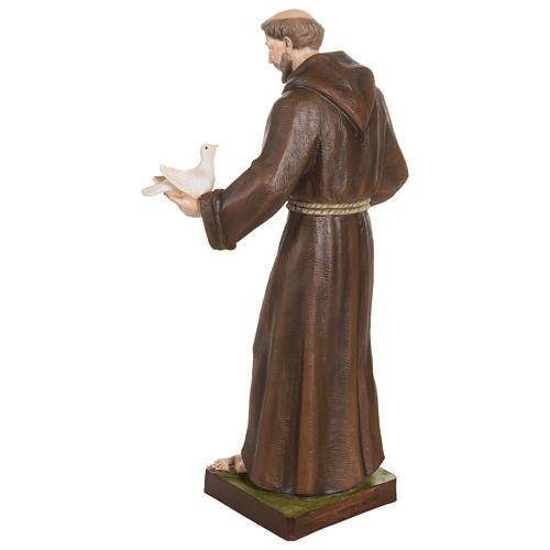 Estatua San Francisco con palomas fibra de vidrio 80 cm PARA EXTERIOR 10