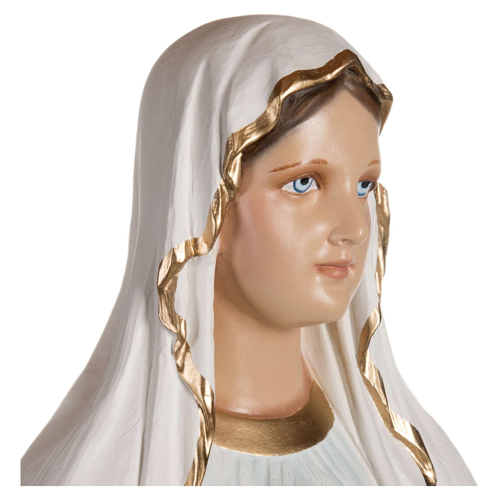 Estatua Virgen de Lourdes fibra de vidrio 130 cm PARA EXTERIOR 4