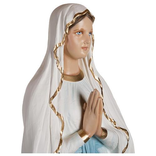 Estatua Virgen de Lourdes fibra de vidrio 130 cm PARA EXTERIOR 6
