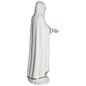 Estatua Virgen de Fátima 120 cm fiberglass PARA EXTERIOR s12