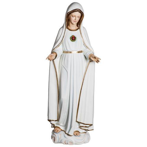 Estatua Virgen de Fátima 120 cm fiberglass PARA EXTERIOR 1