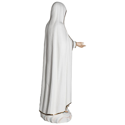 Estatua Virgen de Fátima 120 cm fiberglass PARA EXTERIOR 12