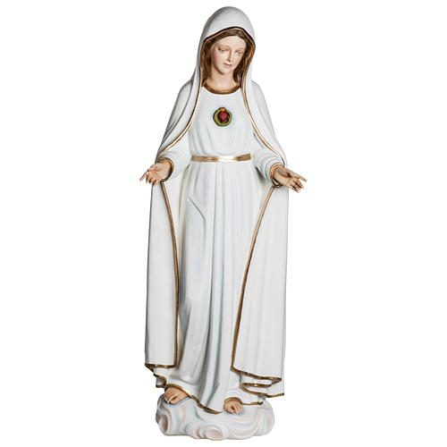Statue Notre-Dame de Fátima 120 cm fibre de verre POUR EXTÉRIEUR 1
