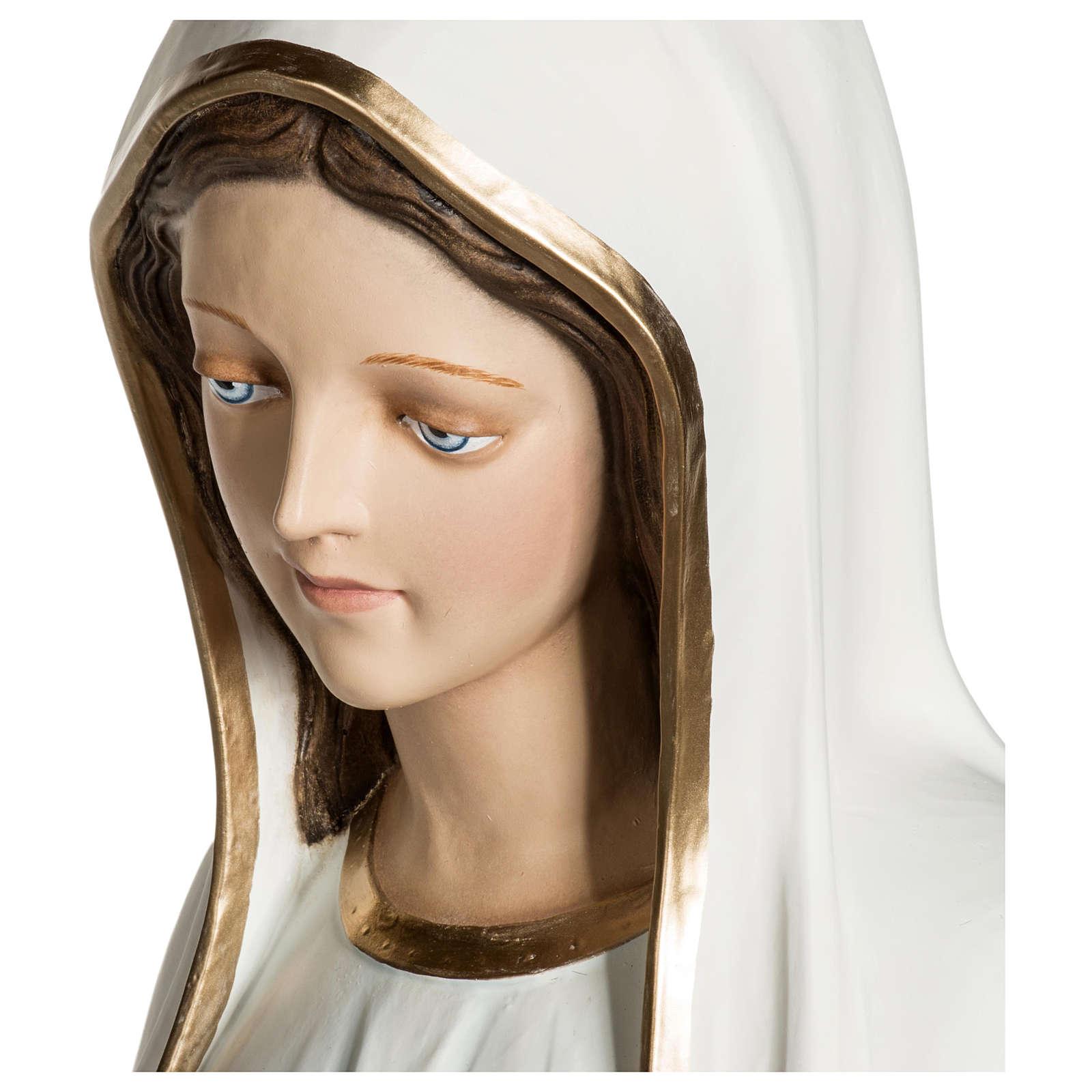 Nossa Senhora de Fátima 120 cm fibra de vidro PARA EXTERIOR 4
