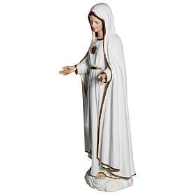 Nossa Senhora de Fátima 120 cm fibra de vidro PARA EXTERIOR s5