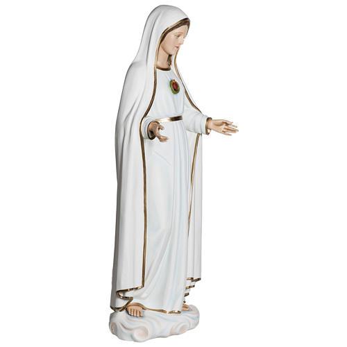 Nossa Senhora de Fátima 120 cm fibra de vidro PARA EXTERIOR 8