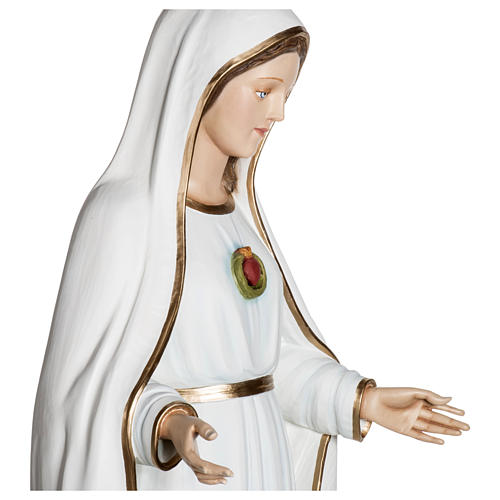 Nossa Senhora de Fátima 120 cm fibra de vidro PARA EXTERIOR 9
